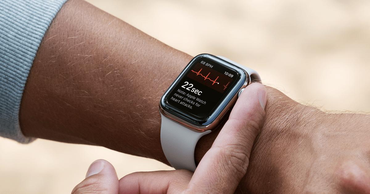 Les dernières Apple Watch embarquent désormais une fonction ECG électrocardiogramme