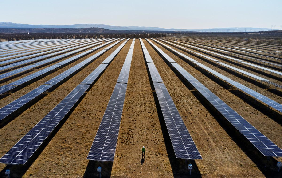 Une ferme solaire d'Apple