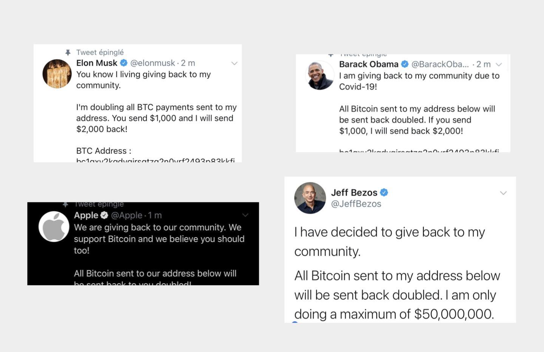 Des comptes Twitter de personnalités et d'entreprises piratés