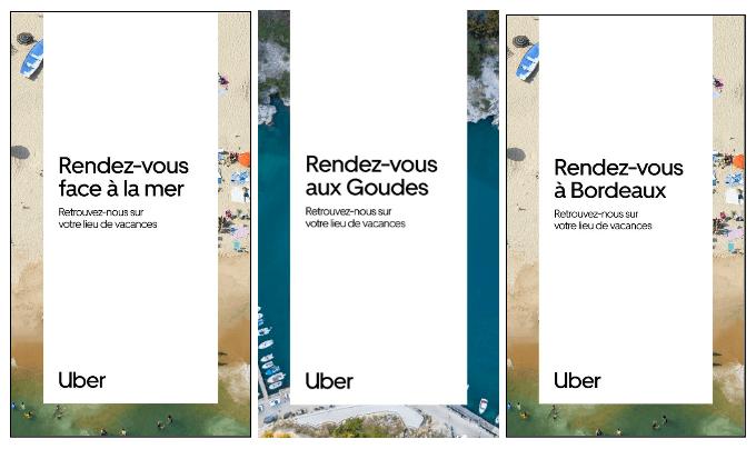 La campagne de pub Uber Rent pour les vacances