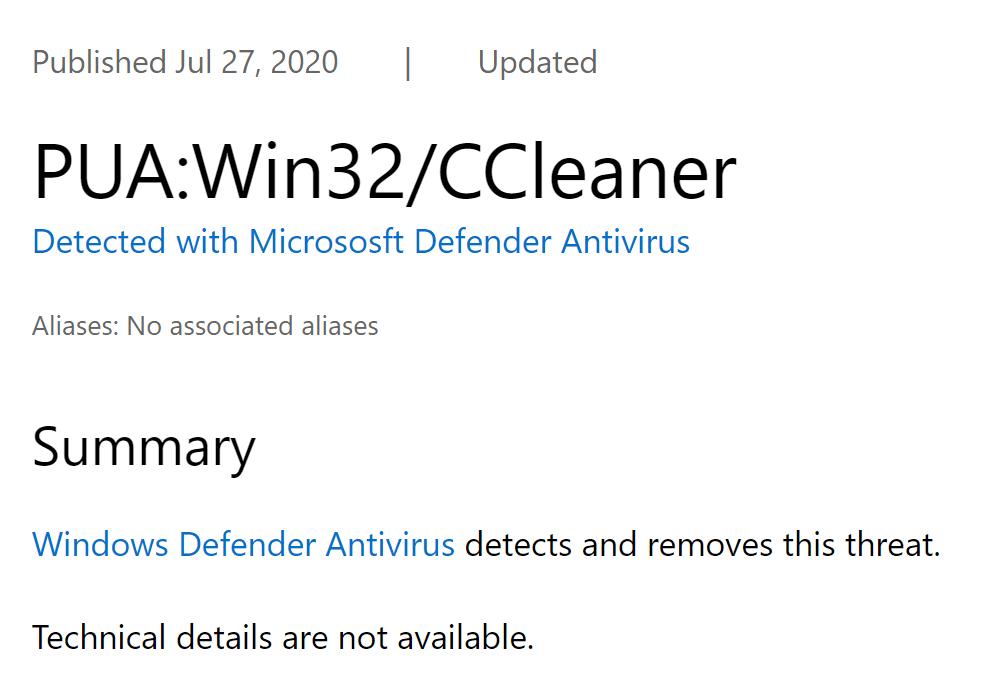 Autrefois réputé, CCleaner est désormais taxé d'application indésirable par Windows