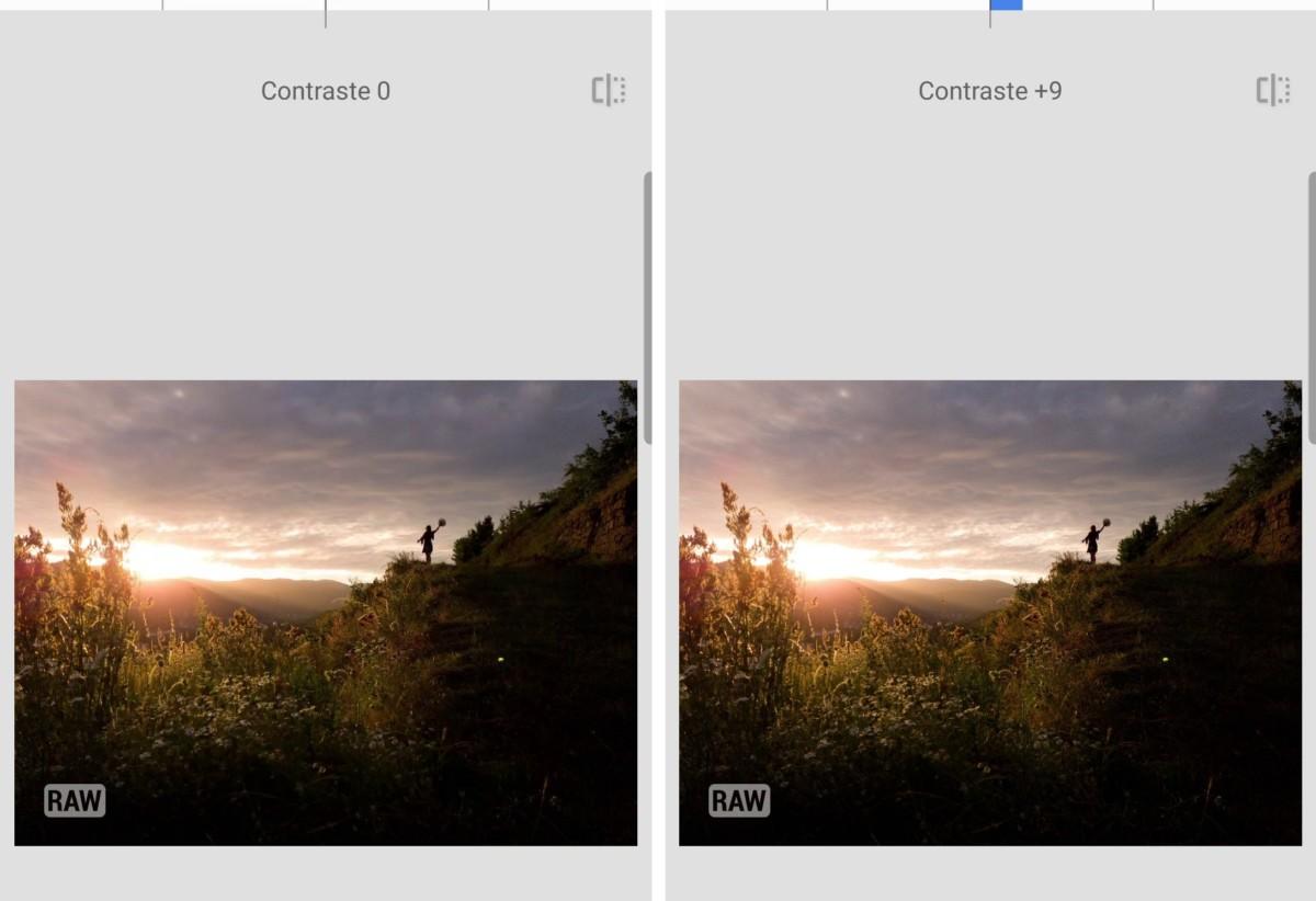 Le contraste permet de mieux mettre en valeur la silhouette.