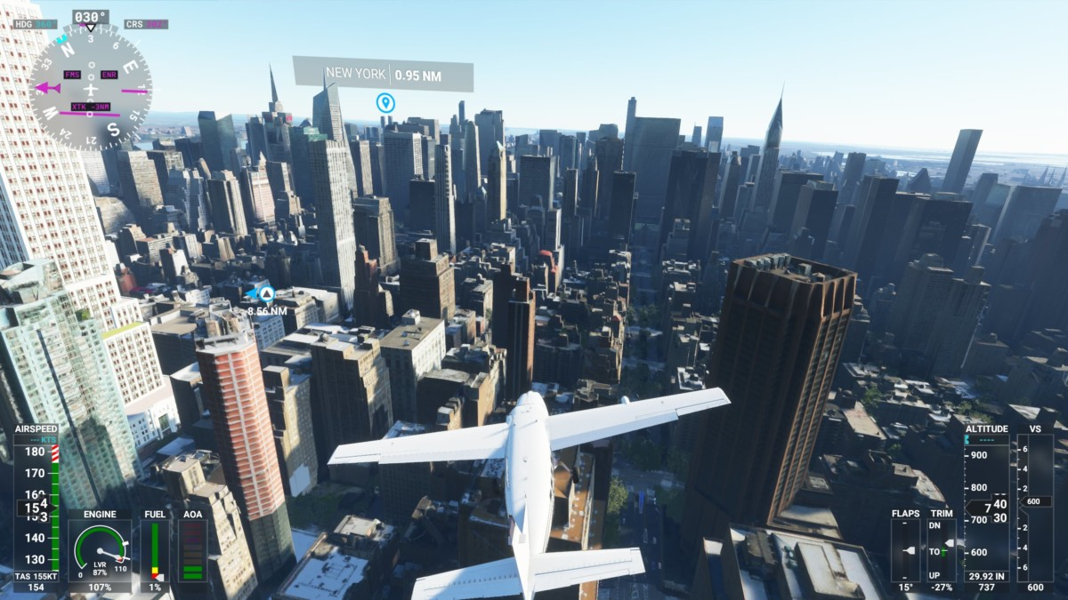 Manhattan dans Flight Simulator