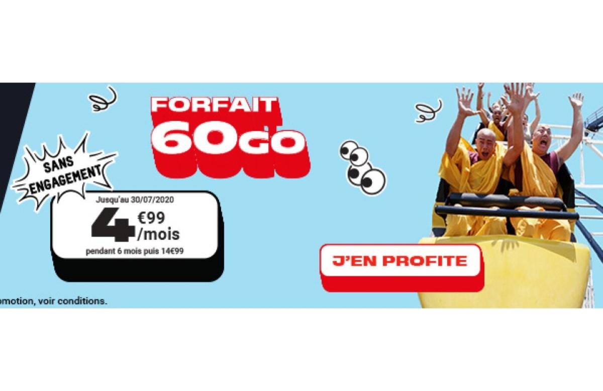 Moins de 5 euros pour 60 Go de 4G avec ce forfait mobile sans engagement