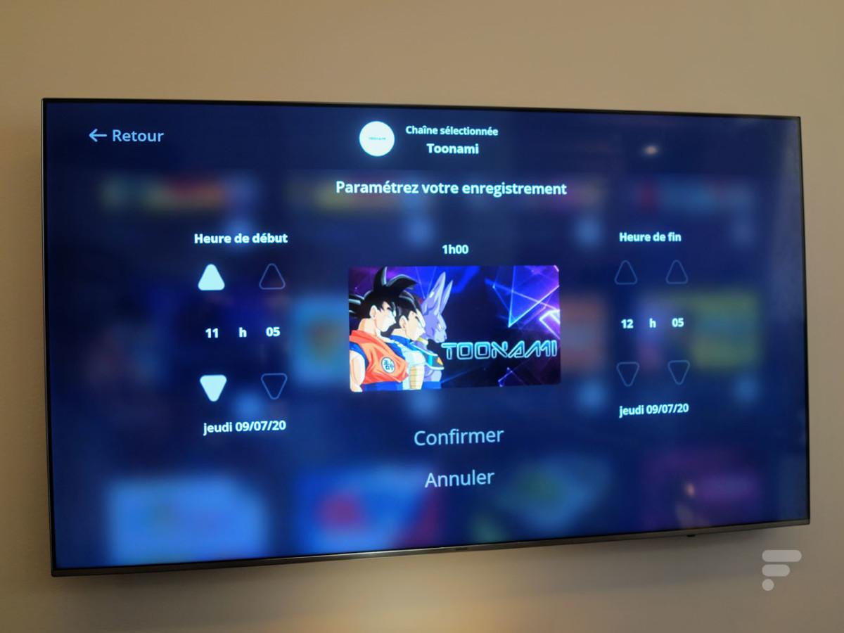 L'enregistrement des vidéos sur le Freebox Player