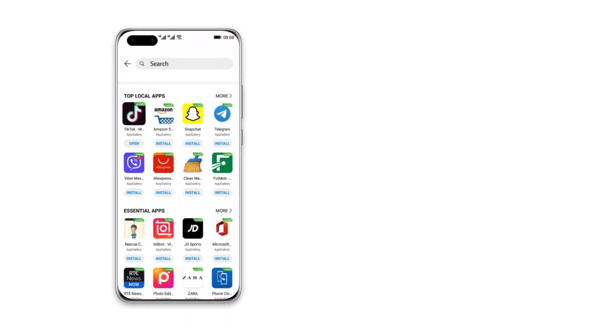 Petal Search, le moteur de recherche d'applis de Huawei, s'enrichit et arrive aussi sur tablette