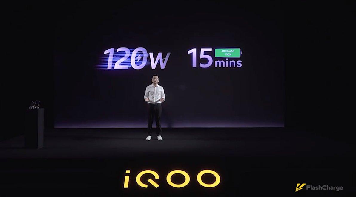 Iqoo présente sa technologie 120Watts