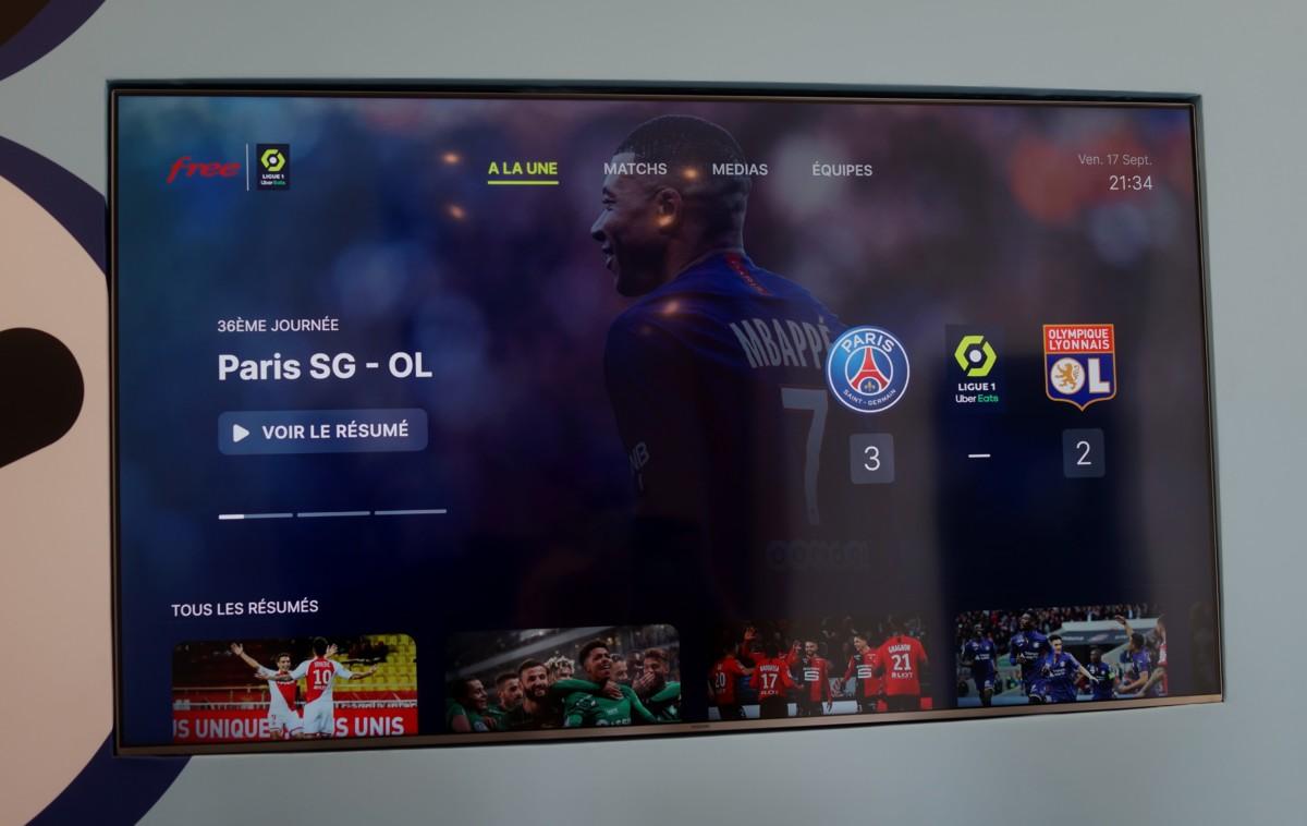 Ligue 1 sur la Freebox Pop