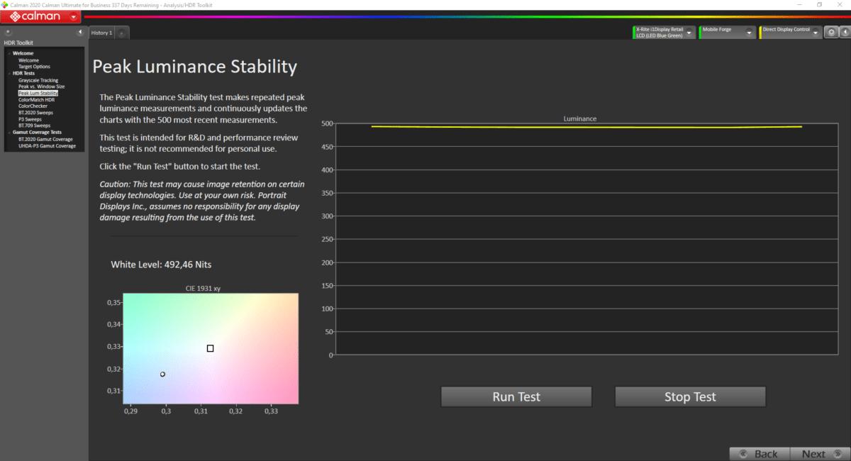 Luminosité max en mode cinéma HDR