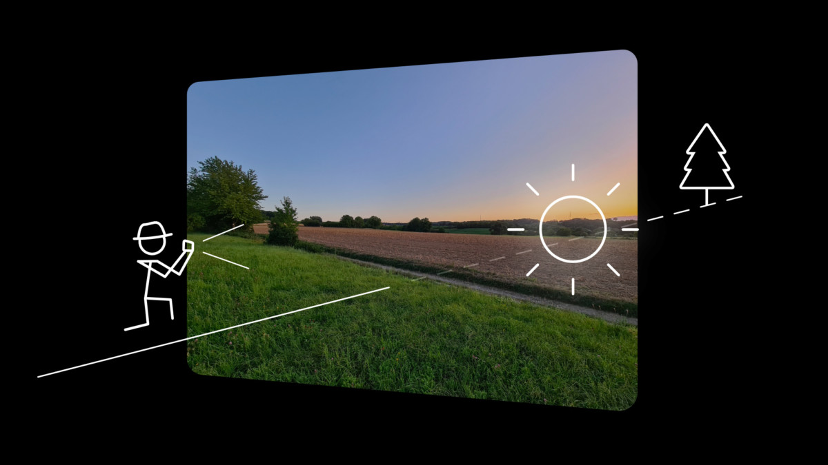 Le soleil de côté est une solution alternative… qui dépend de vos choix de composition.