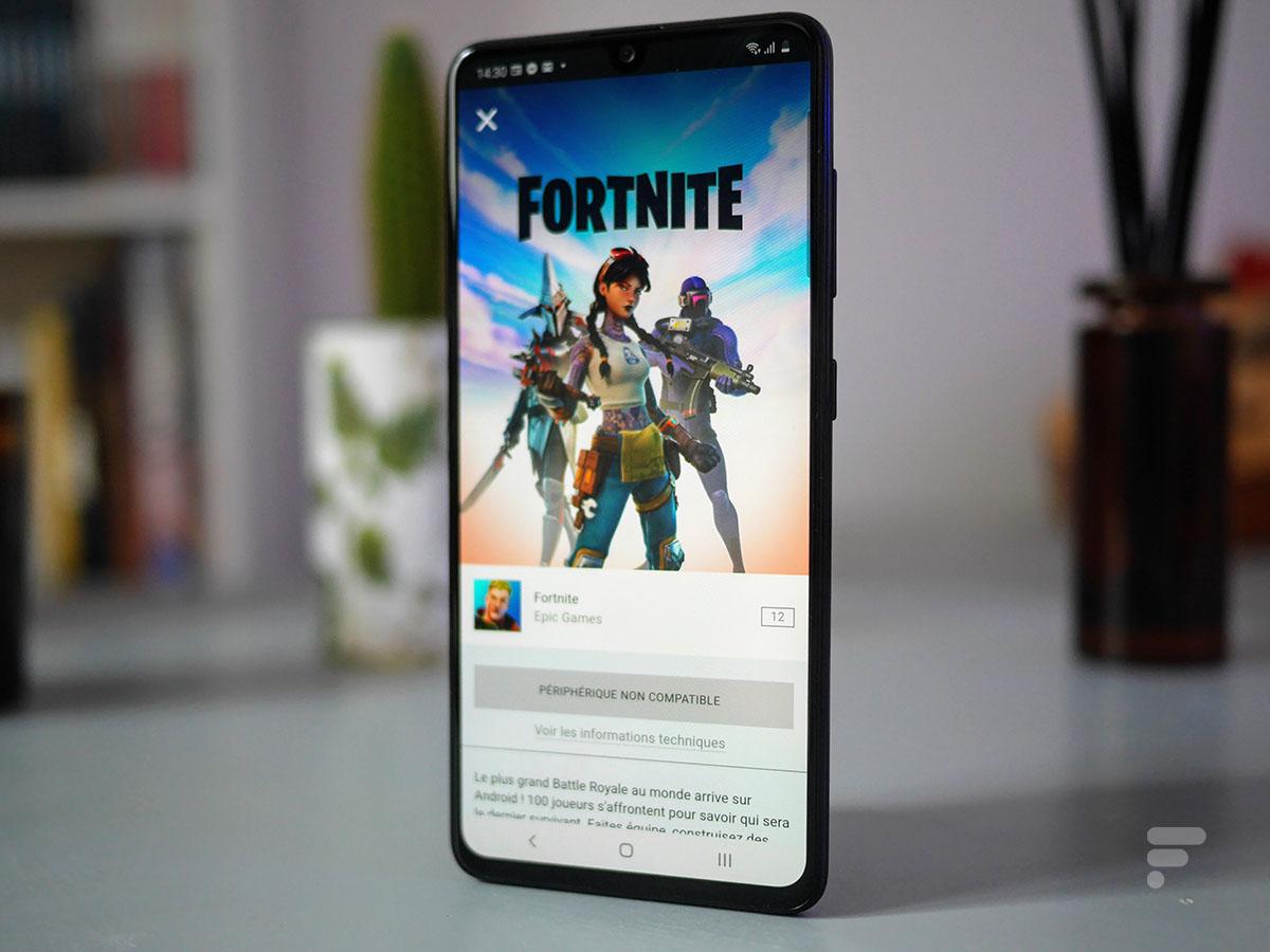Fortnite ne se lance pas sur le Samsung Galaxy A41