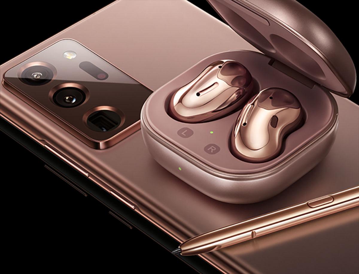 Samsung : les Galaxy Note 20, Watch 3 et Buds Live se montrent en version bronze