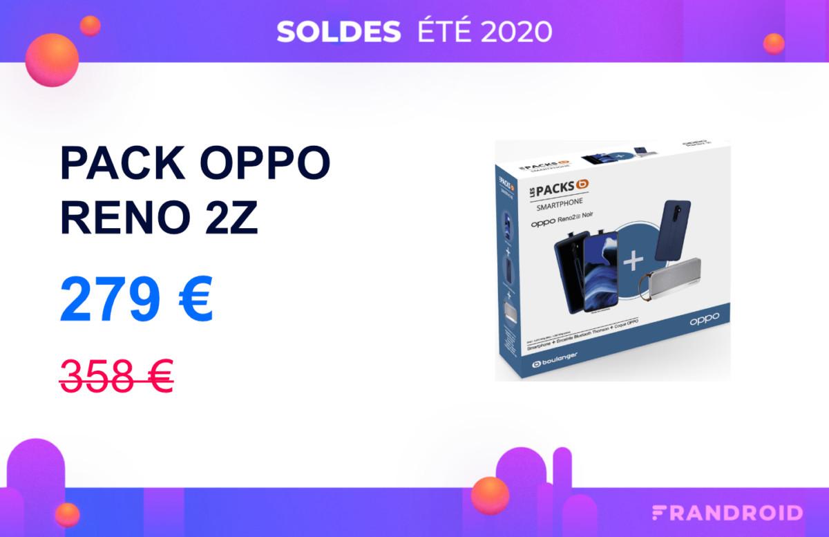 L'Oppo Reno 2Z (en pack avec une enceinte) est à moins de 280 euros