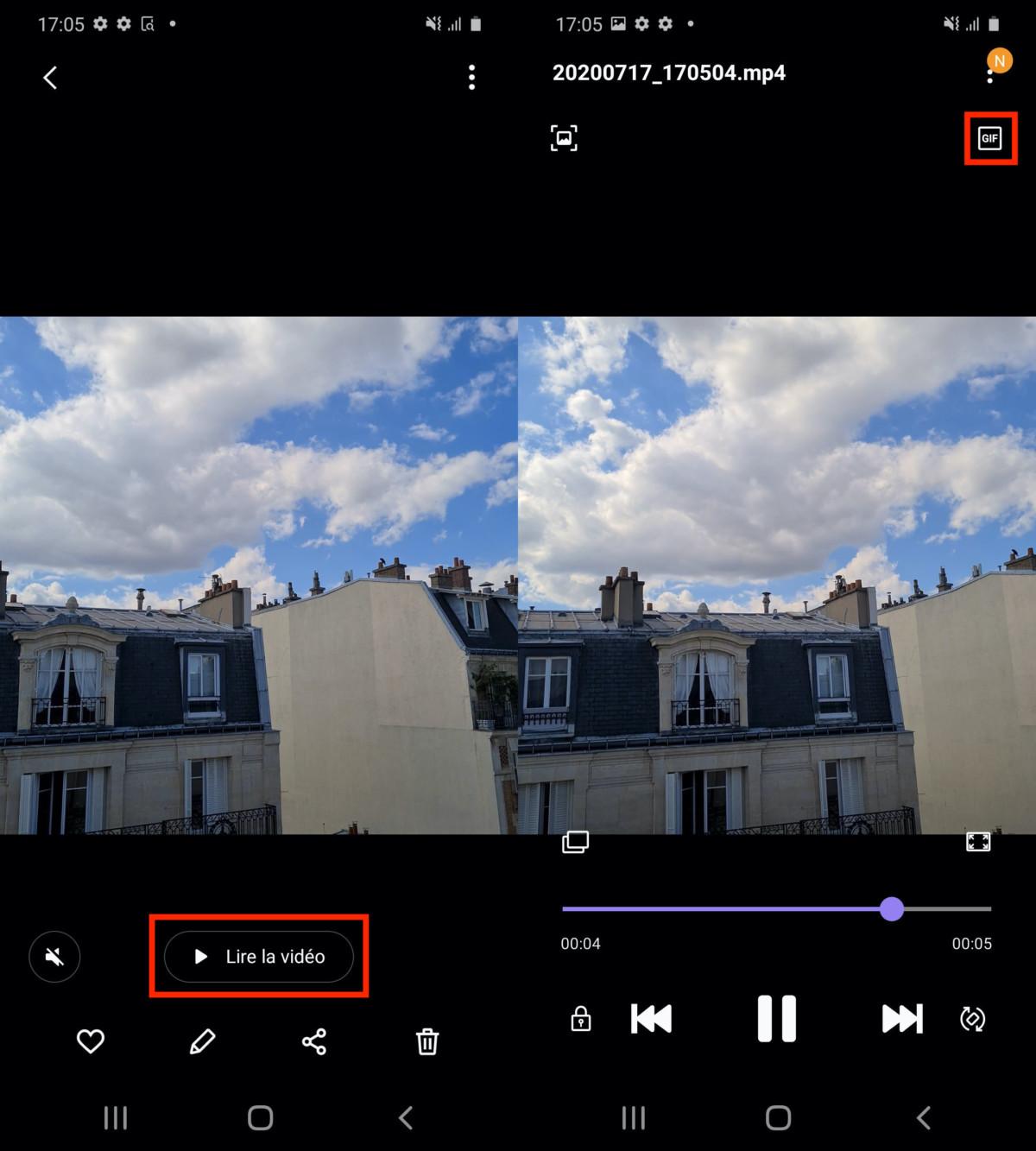 Comment créer un GIF à partir d'une rafale de photos sur un smartphone Samsung