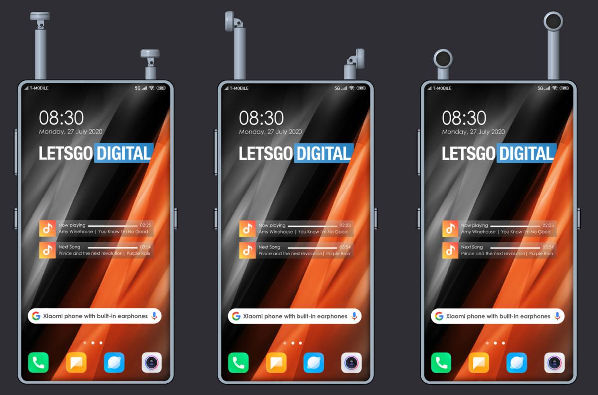 Brevet de Xiaomi sur les écouteurs à ranger dans le smartphone
