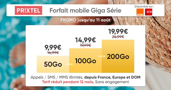 Sans doute le meilleur forfait mobile du moment — Giga Série Prixtel