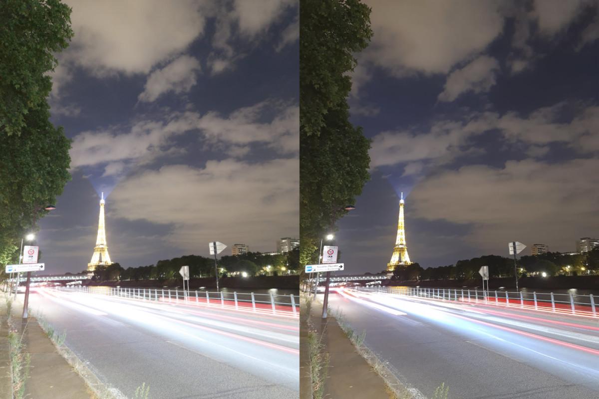 Après avoir fait quelques retouches dans Lightroom, voici le résultat. À gauche la photo sans retouche. À droite la photo avec mes retouches.