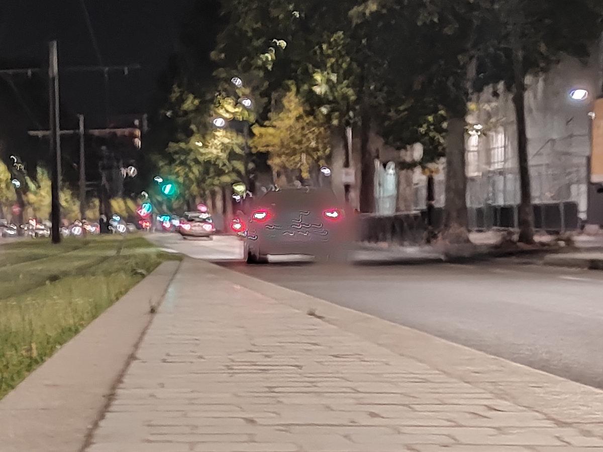 Zoom d'une photo en mode nuit