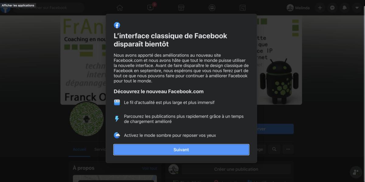 Le nouveau design de Facebook arrive en septembre