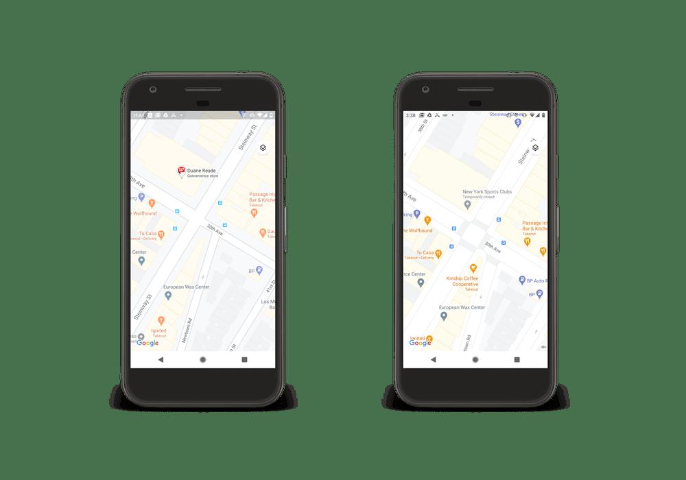 Carte de ville plus détaillée sur Google Maps