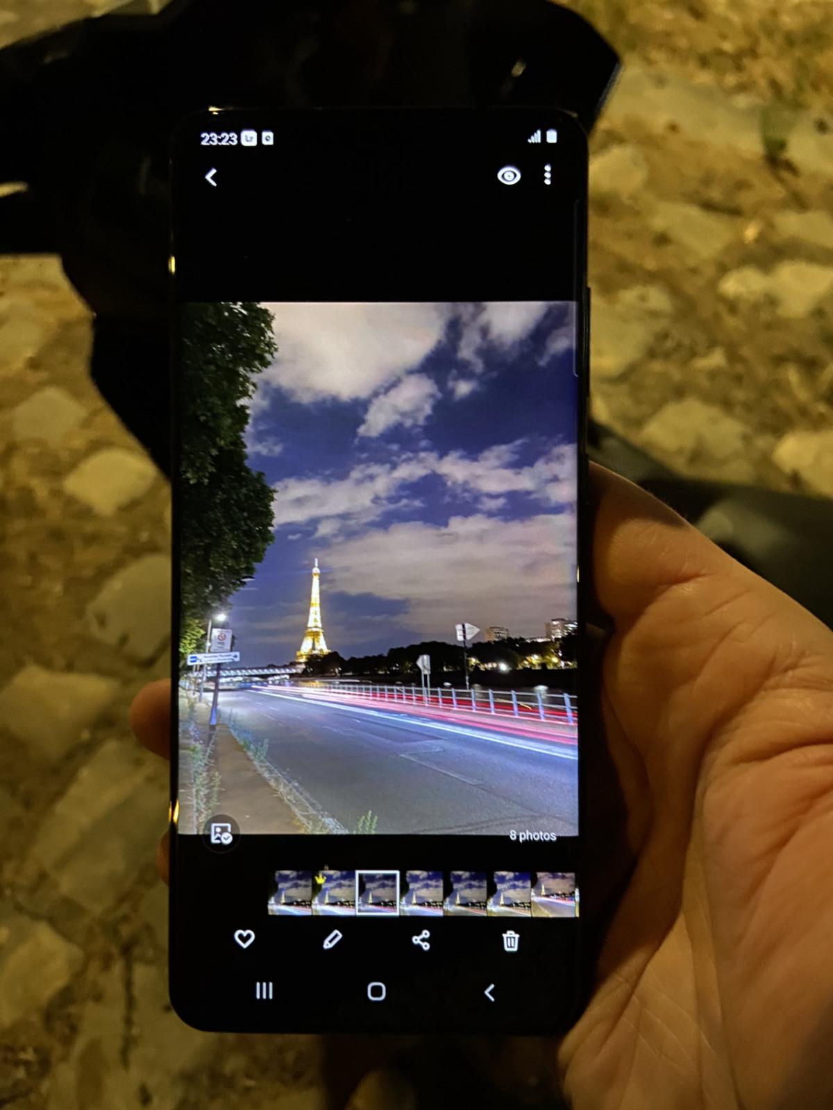 Voici ce que donne la composition finale sur le Samsung GalaxyS20 Ultra.