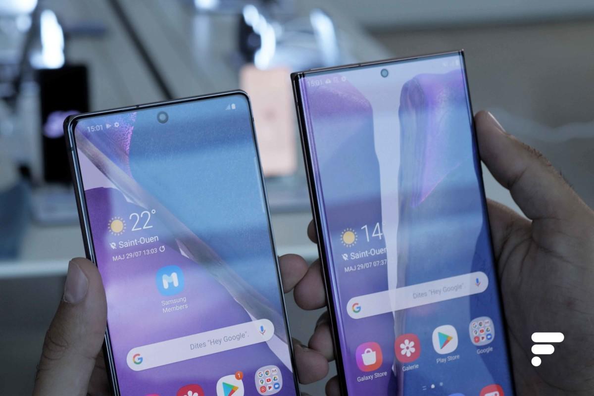 Écran des Samsung Galaxy Note 20 et Note 20 Ultra