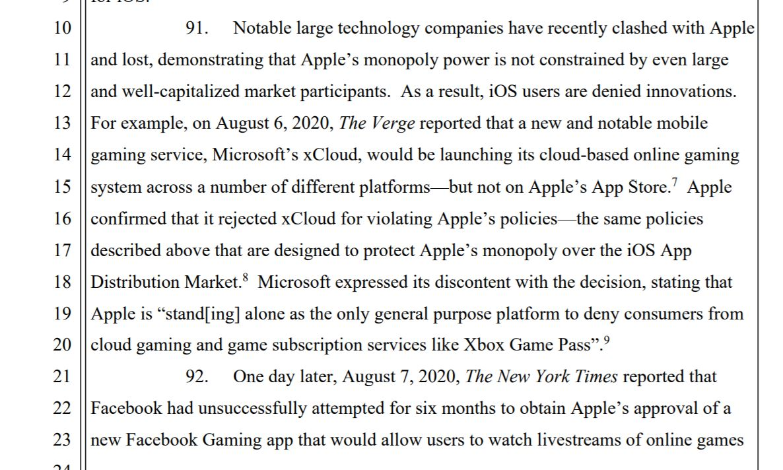 Epic Games mentionne les problèmes de Microsoft et Facebook
