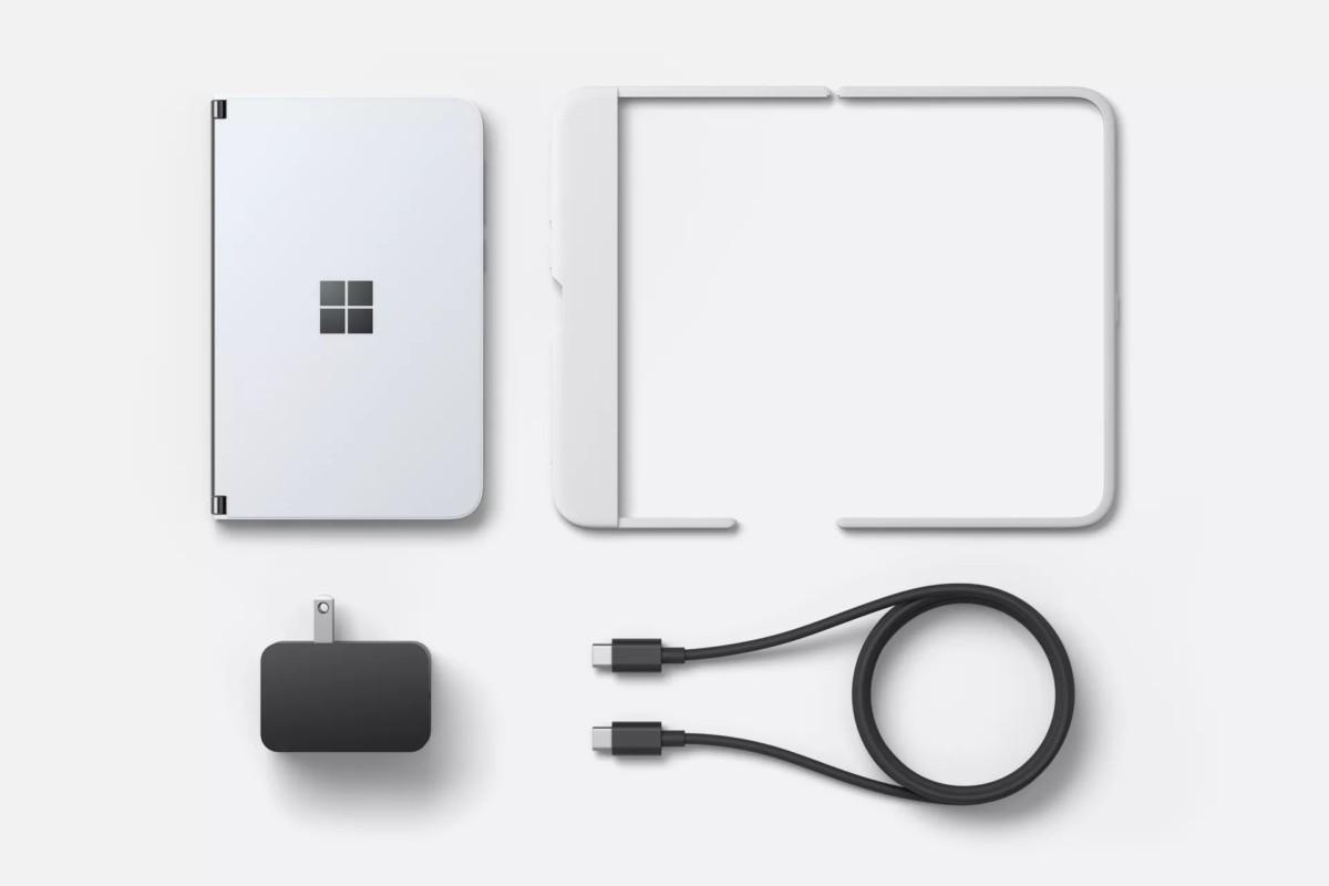 Contenu de la boîte Microsoft Surface Duo