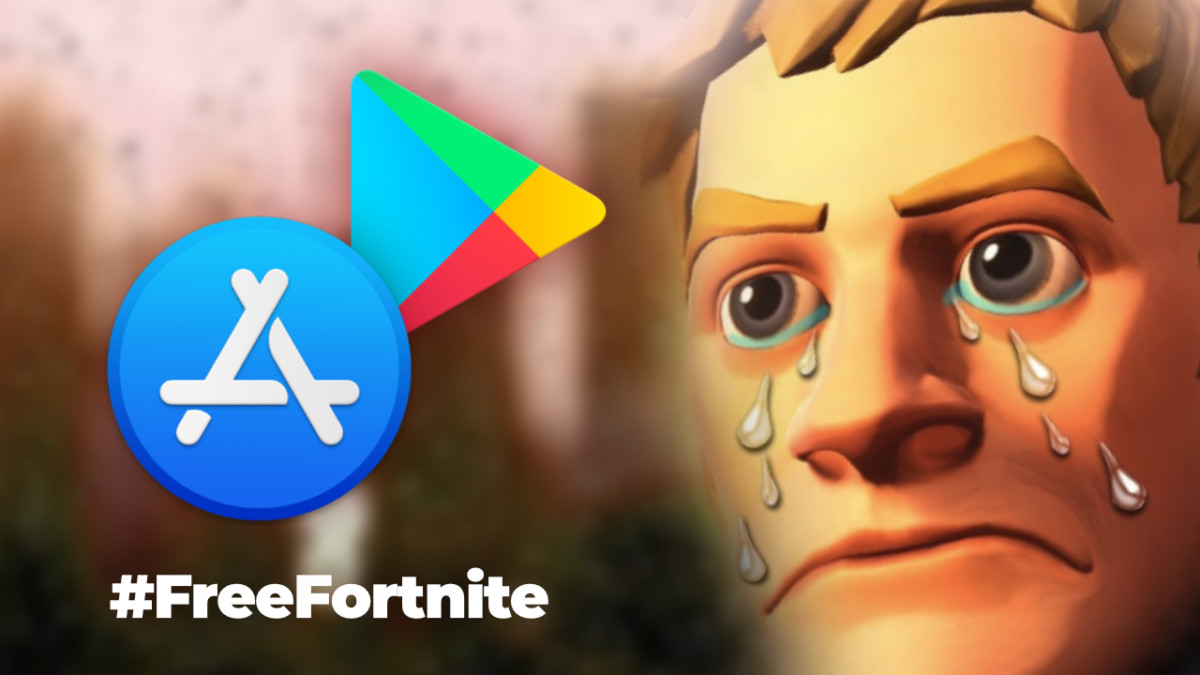 Fortnite absent from the App Store and the Play Store