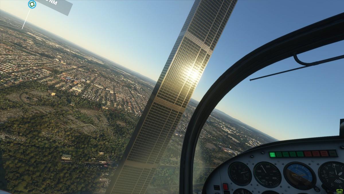 Une étrange tour a vu le jour dans le ciel de Melbourne dans le jeu Flight Simulator