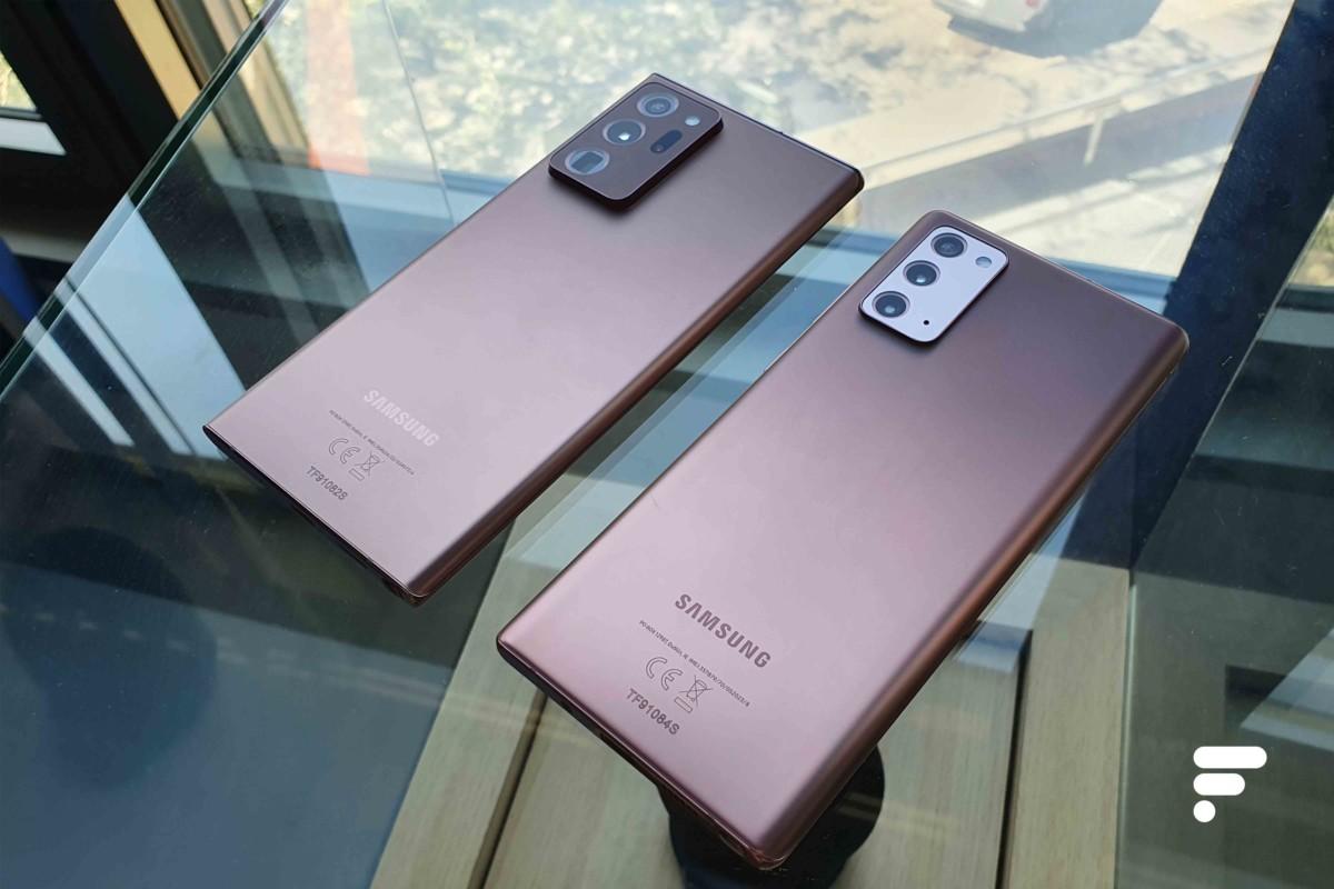 Samsung Galaxy Note 20 Ultra et Note 20