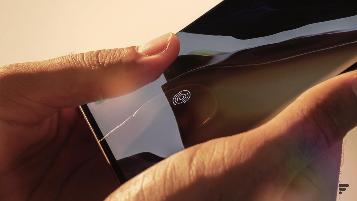 Samsung Galaxy Note 20 Ultra lecteur d'empreintes