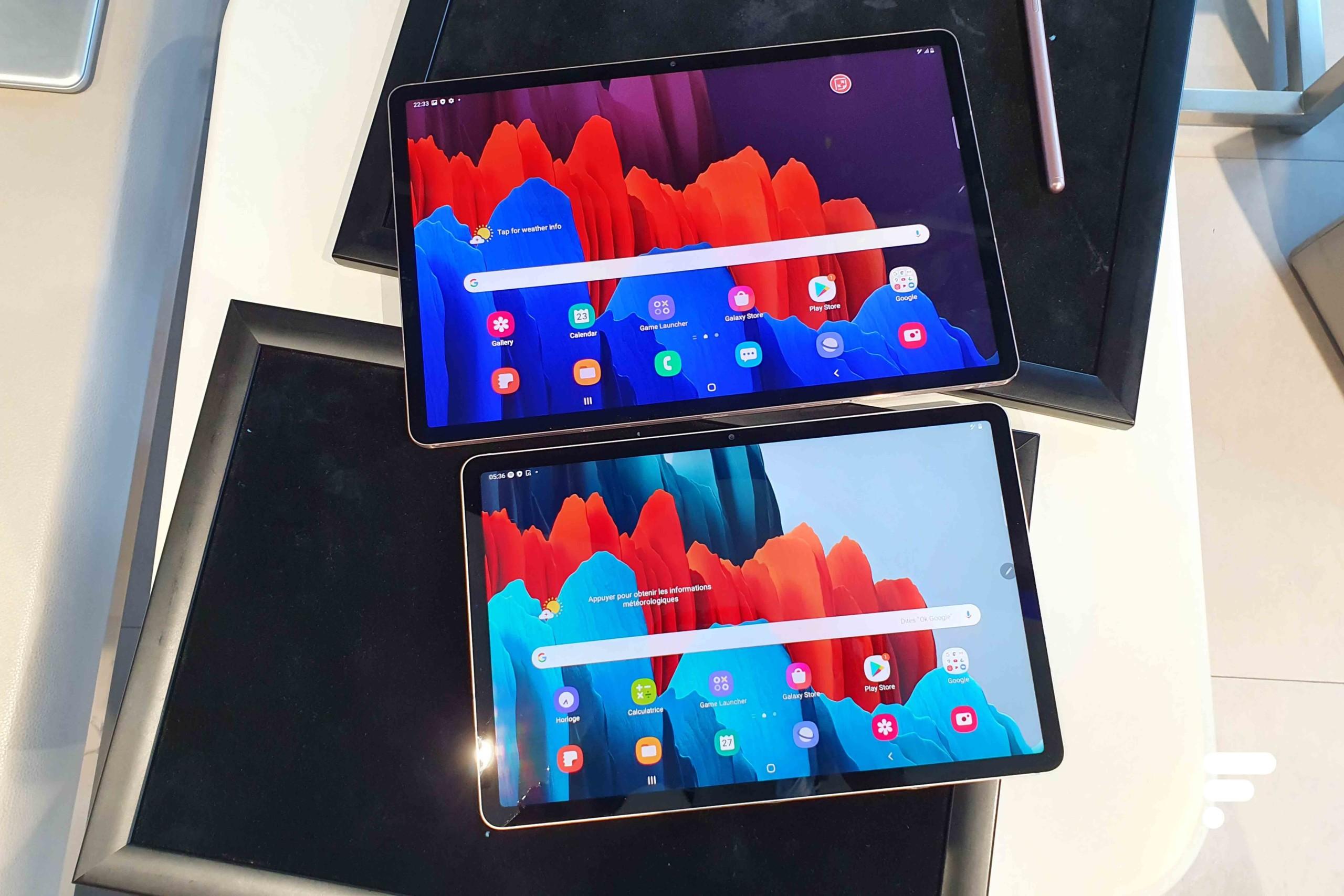 Samsung Galaxy Tab S7 Plus et Tab S7