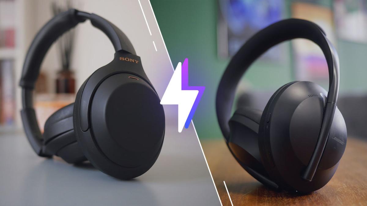 Le Sony WH-1000XM4 à gauche et le Bose Headphones 700 à droite