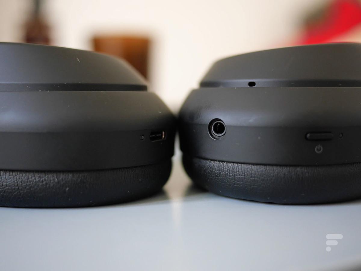 La prise USB-C et la prise jack du Sony WH-1000XM4