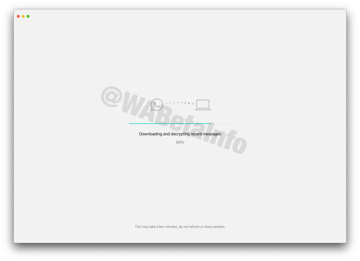 Téléchargement des messages sur WhatsApp Desktop