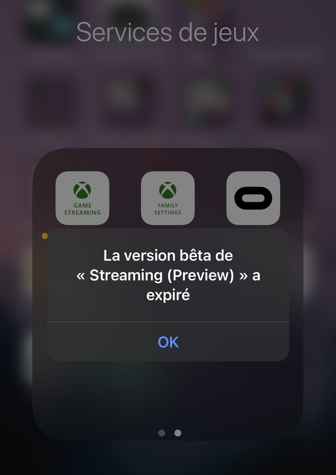 xCloud Preview n'est plus disponible sur iOS