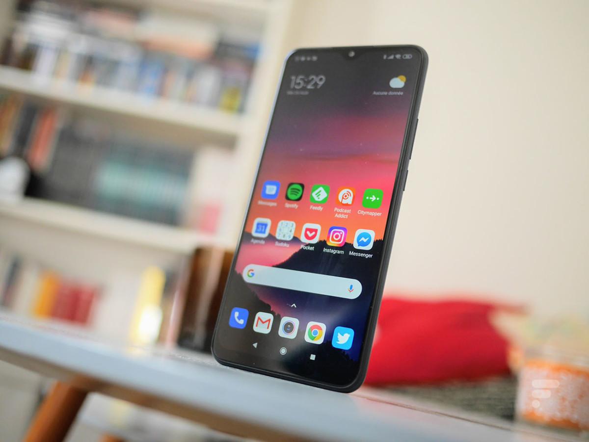 La face avant du Xiaomi Redmi 9
