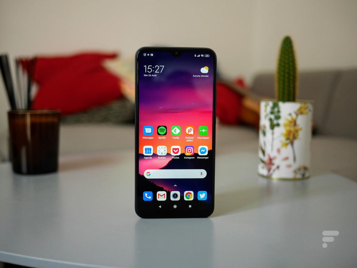 L'écran du Xiaomi Redmi 9