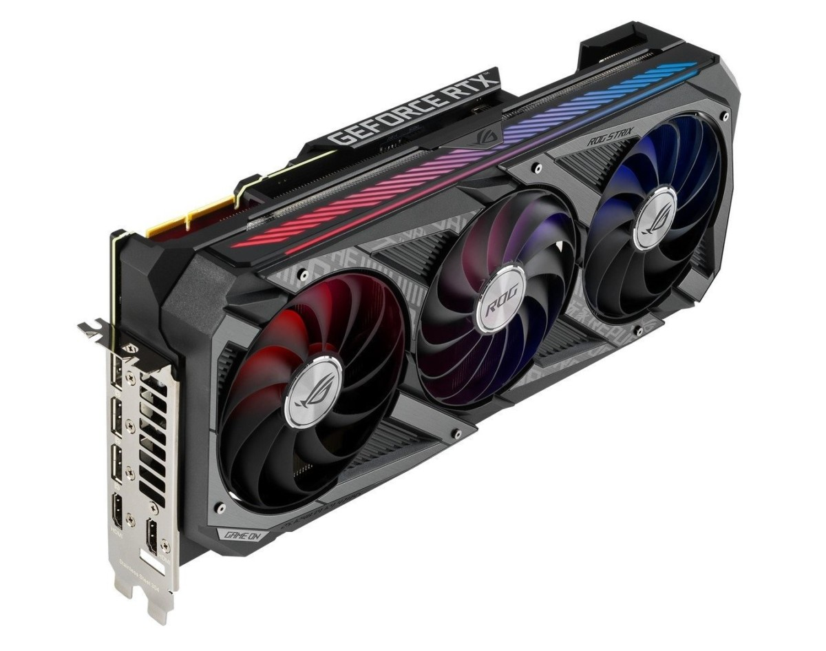 Ici la Nvidia GeForce RTX 3090 proposée par Asus sur sa gamme ROG Strix
