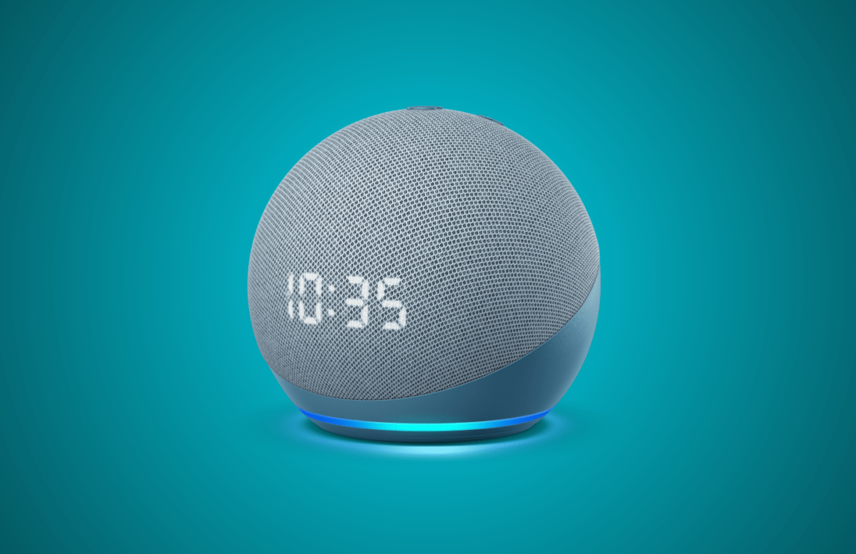 Amazon Echo Dot with Clock 2020