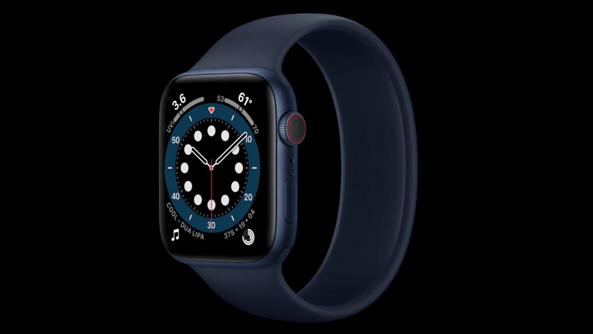 Apple Watch Series 6 en bleu