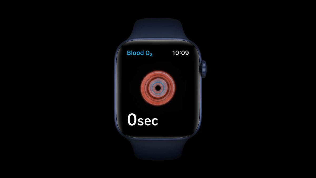 Apple Watch Series 6 niveau d'oxygène dans le sang
