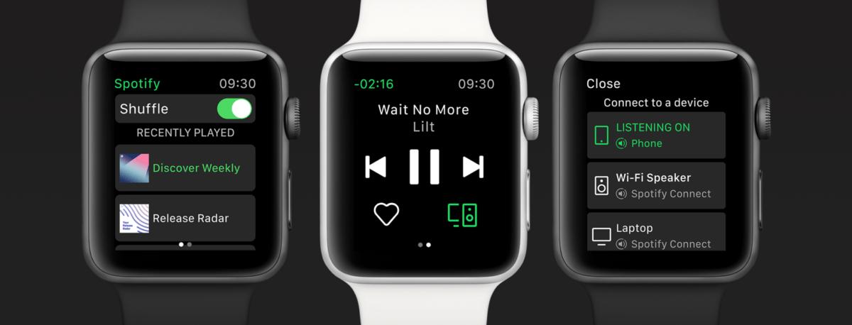 Spotify sur Apple Watch