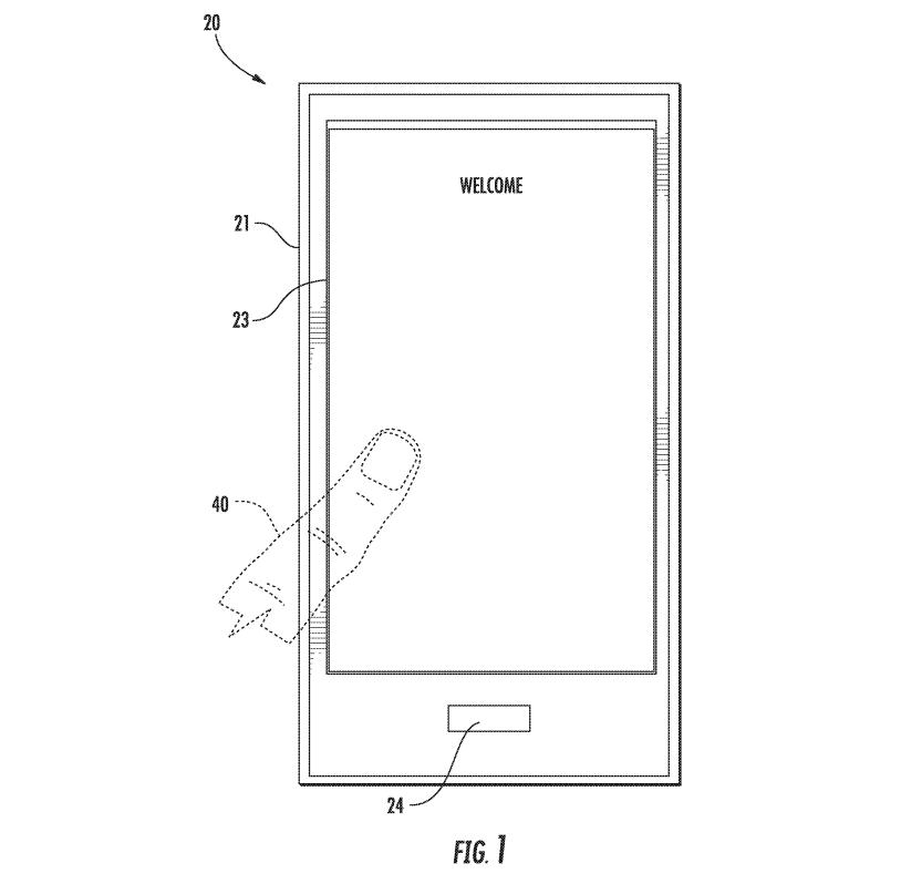Un schéma du brevet obtenu par Apple pour une utilisation du lecteur Touch ID sous l'écran