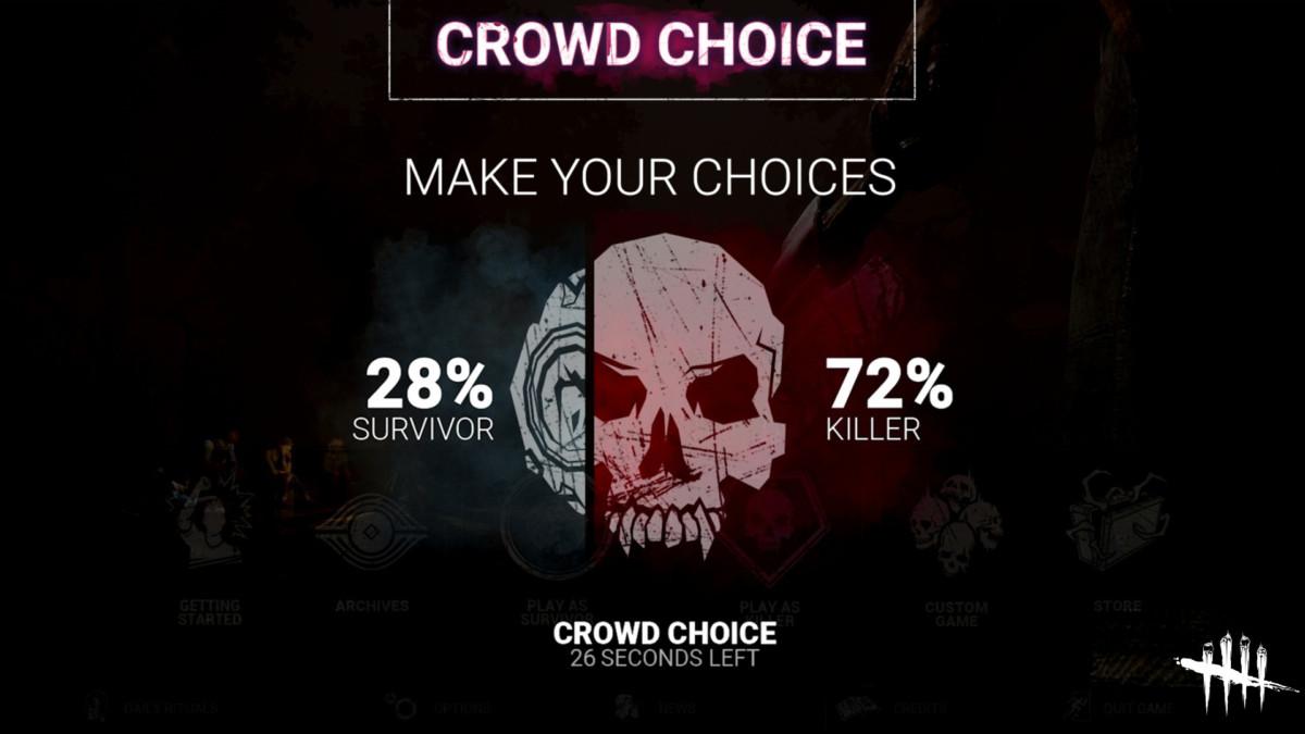 La fonction Crowd choice sur Dead by Daylight