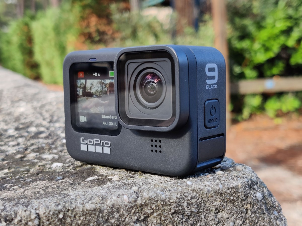 The GoPro Hero 9 Black and its front screen