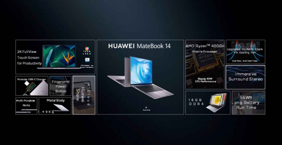 huawei matebook 14 1 1200x619 - Huawei MateBook X: the brand takes the best of its smartphones - Frandroid