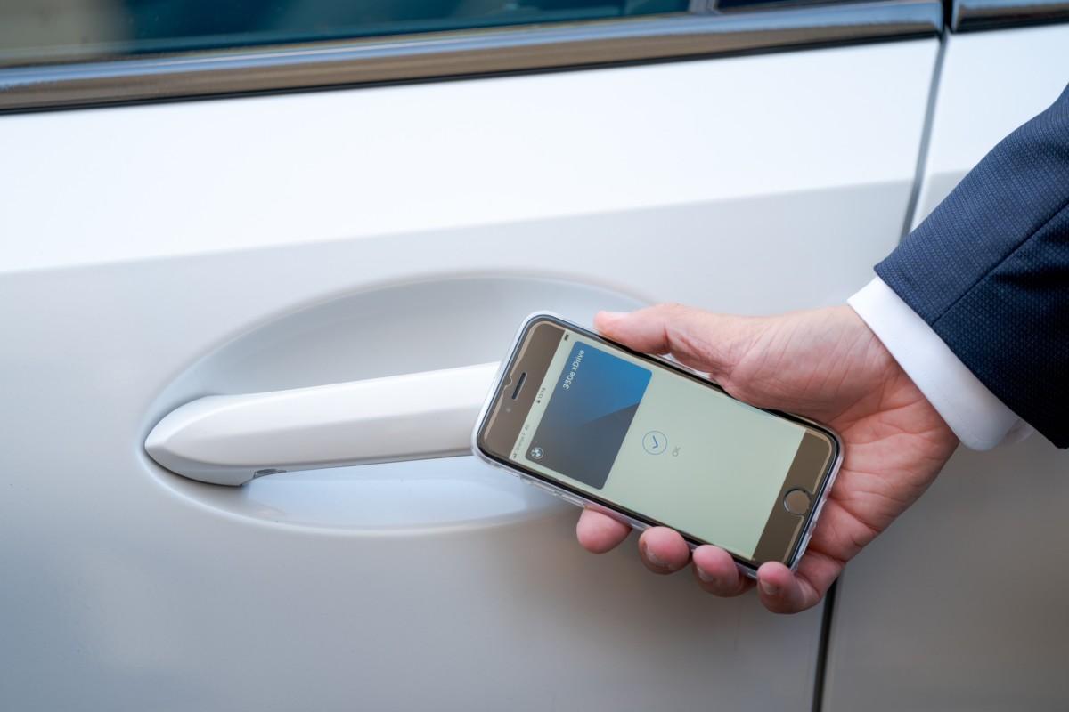 Le déverrouillage de la voiture via la BMW Digital Key