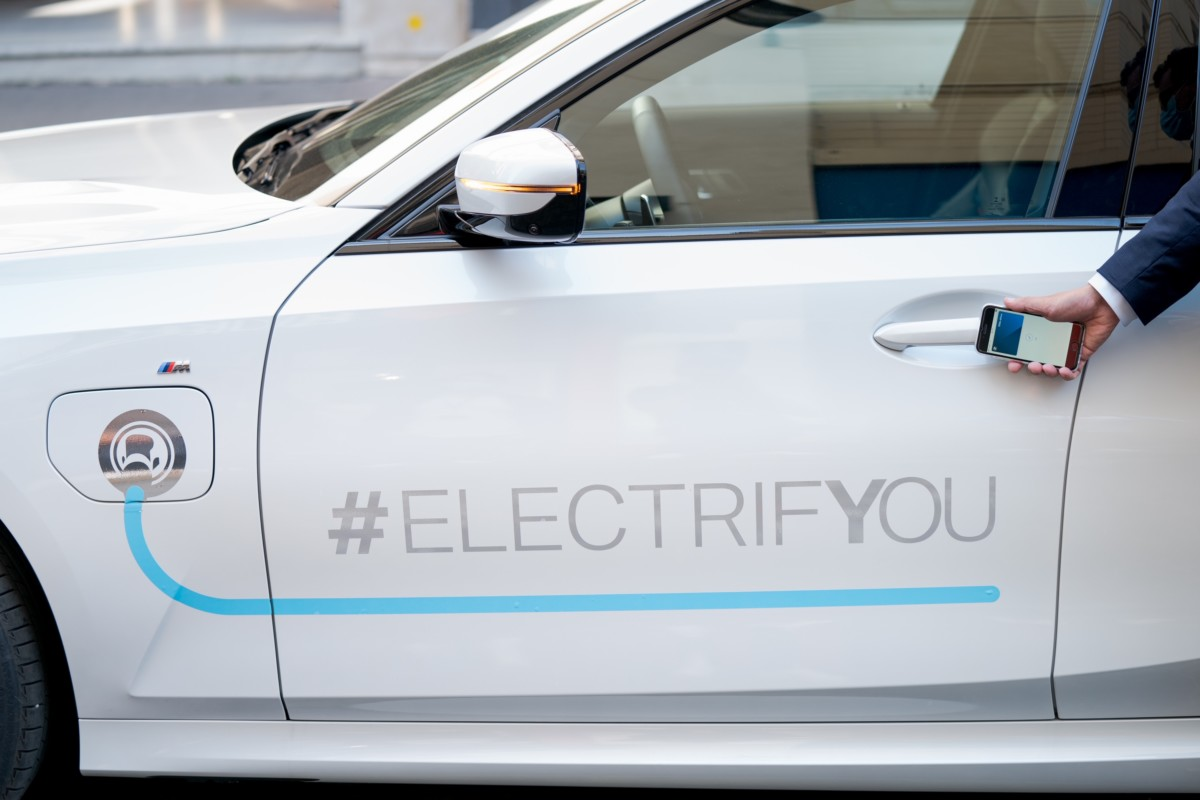 Notre véhicule d'essai, une BMW Série 3Touring hybride rechargeable